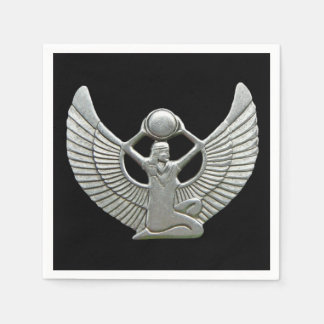 Isis Amulet Silver Paper Napkin