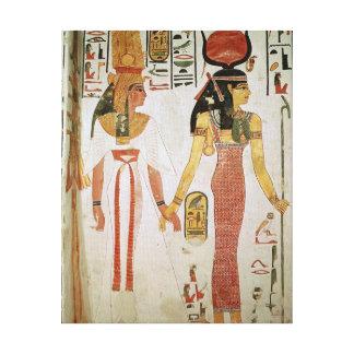 Isis and Nefertari Canvas Print