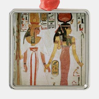 Isis and Nefertari Christmas Ornament