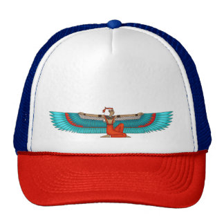 Isis and Nephtys. Turquoise and yellow. Cap