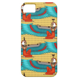 Isis and Nephtys. Turquoise and yellow. iPhone 5 Case