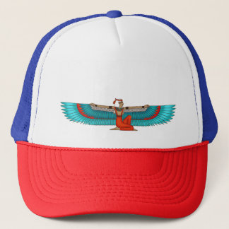 Isis and Nephtys. Turquoise and yellow. Trucker Hat