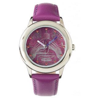 ISIS, Antique Egyptian Goddess  Purple White Watch