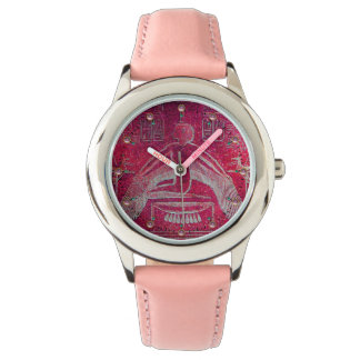 ISIS, Egyptian Goddess Antique Red Pink Watch