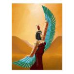Isis Egyptian Pagan mother goddess digital art Postcard