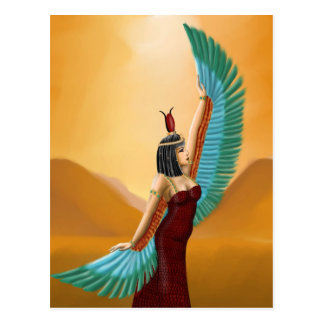 Isis Egyptian Pagan mother goddess digital art Postcard