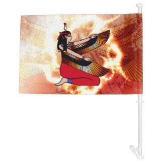 Isis the goddess of Egyptian mythology. Car Flag
