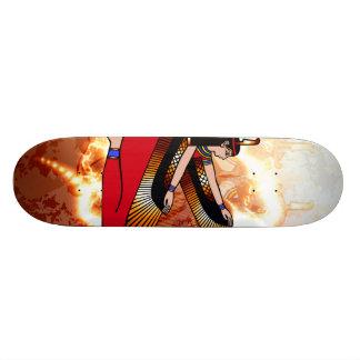 Isis the goddess of Egyptian mythology. Custom Skate Board