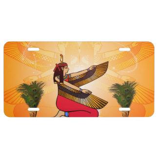 Isis the goddess of Egyptian mythology License Plate