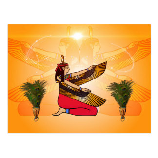 Isis the goddess of Egyptian mythology Postcard