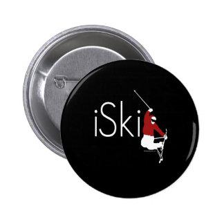 iSki 6 Cm Round Badge