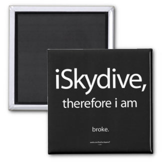 iSkydive, therefore... Square Magnet