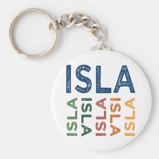 Isla Cute Colorful Basic Round Button Key Ring