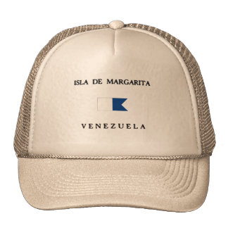 Isla de Margarita Venezuela Alpha Dive Flag Mesh Hats