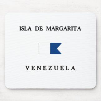 Isla de Margarita Venezuela Alpha Dive Flag Mousepads