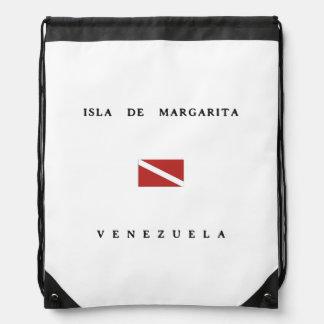Isla De Margarita Venezuela Scuba Dive Flag Drawstring Backpacks