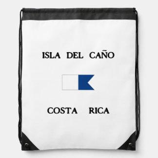 Isla del Caño Costa Rica Alpha Dive Flag Drawstring Bag