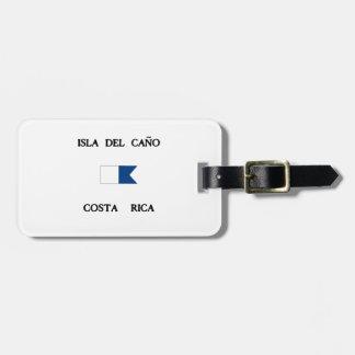 Isla del Caño Costa Rica Alpha Dive Flag Bag Tag