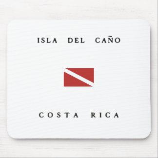 Isla Del Cano Costa Rica Scuba Dive Flag Mouse Pad