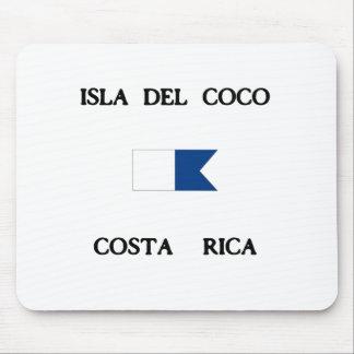 Isla Del Coco Costa Rica Alpha Dive Flag Mouse Pad