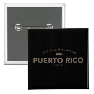 Isla del Encanto, Puerto Rico 15 Cm Square Badge