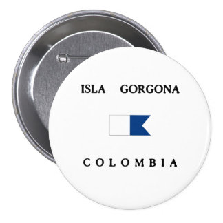 Isla Gorgona Colombia Alpha Dive Flag Pinback Buttons