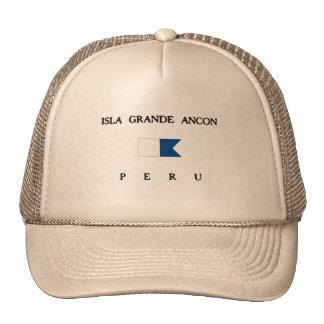 Isla Grande Ancon Peru Alpha Dive Flag Hats