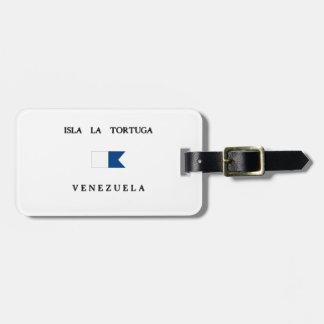 Isla La Tortuga Venezuela Alpha Dive Flag Travel Bag Tag
