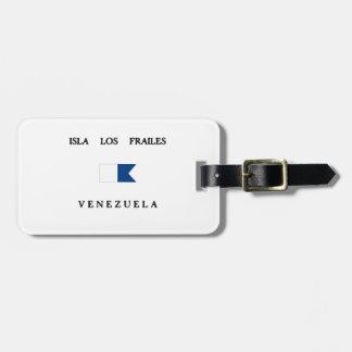 Isla Los Frailes Venezuela Alpha Dive Flag Travel Bag Tags
