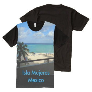 Isla Mujeres, Mexico Panel T-shirt All-Over Print T-Shirt