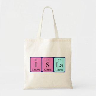 Isla periodic table name tote bag