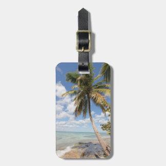 Isla Saona - Palm Tree at the Beach Luggage Tag