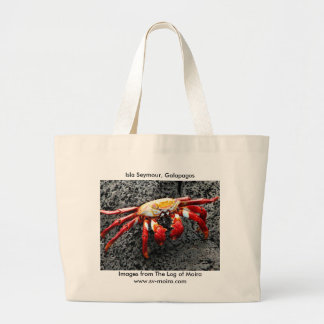 Isla Seymour, Galapagos, Red crab Jumbo Tote Bag