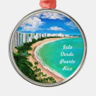 Isla Verde, Puerto Rico Christmas Ornament