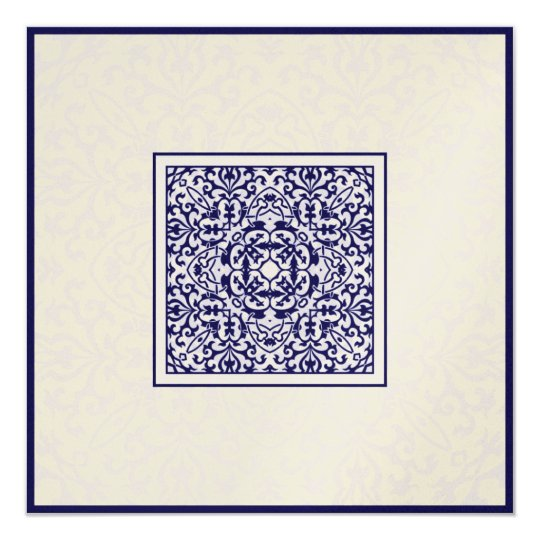 Islam Arabic metallic ornament engagement wedding Card