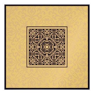 Islam Arabic metallic ornament engagement wedding Personalized Announcements