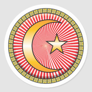 Islam Icon Round Sticker