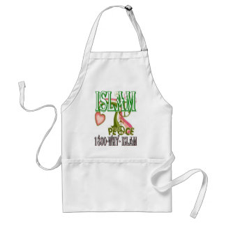 Islam is peace & love & happiness standard apron