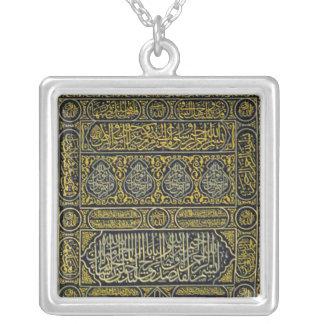 Islam Islamic Muslim Arabic Calligraphy Hajj Kaaba Square Pendant Necklace