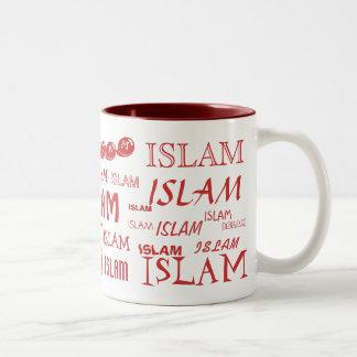 Islam Multi-font Mug Red