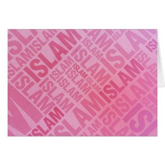 Islam - Pink Typography Greeting Card