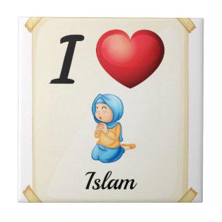 Islam Small Square Tile