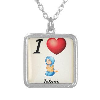 Islam Square Pendant Necklace