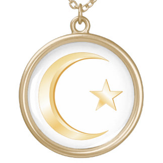 Islam Symbol Gold Plated Necklace
