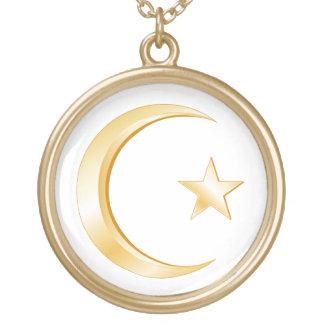 Islam Symbol Round Pendant Necklace