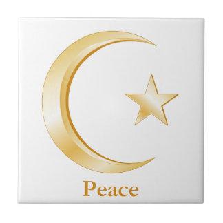 Islam Symbol Small Square Tile