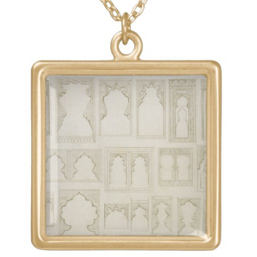 Islamic and Moorish arch designs for balconies, wi Necklaces