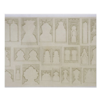 Islamic and Moorish arch designs for balconies wi Poster