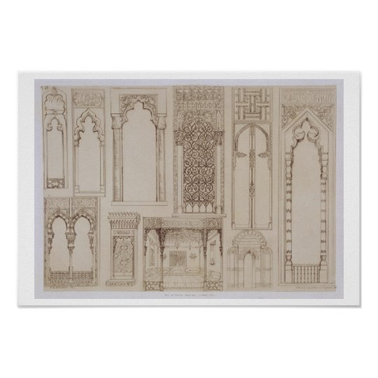 Islamic and Moorish design for shutters and divans
