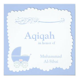 Islamic Aqiqa baby invitation bismillah muslim